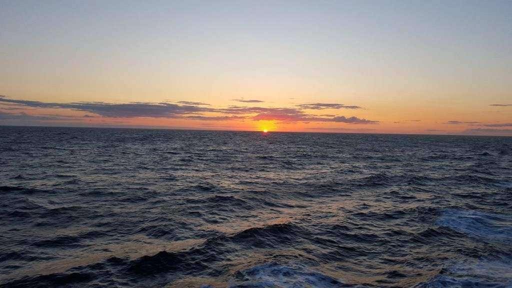 Anna Kurkowska  zdjęcie zrobione przez Mojego Marynarza ze statku Oscar Wilde Irish Ferries, 28.05.2016 r.  Morze Irlandzkie. Specjalnie dla mnie.