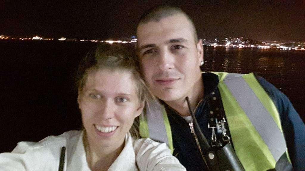 Nawet na statku można poznać swoją drugą połówkę, zdjecie zrobione w Rio de Janeiro Ewelina Ewu Ut