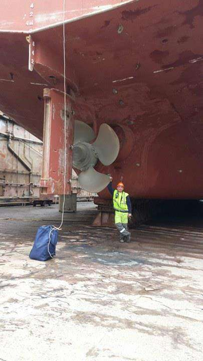 Pozdrawiam ze Stoczni w Klajpedzie na Litwie. Robią nas z General Cargo na Cementowca Robert Gosia