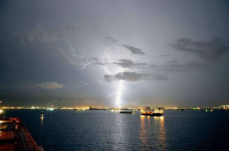 Singapore nocą Patrycja Paweł Sawiccy