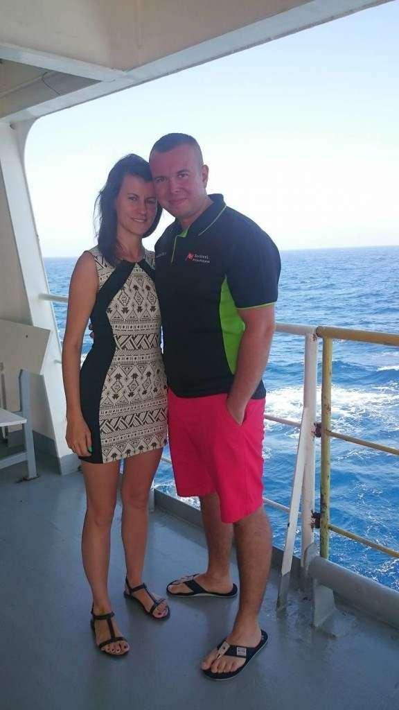 Historia iscie prawdziwa, po dwutygodniowym pobycie mojej Żony u mnie na statku okazalo sie że moja wspaniała Malzonka jest w ciąży  Damian Kiestrzyn (2)