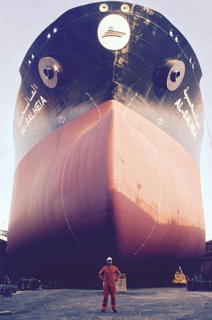 MV Al Salheia VLCC dry dock Bahrain Łukasz Kuliński