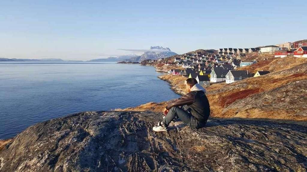 Moj chlopak w trakcie rejsu na Grenlandi Magadlena Sowińska