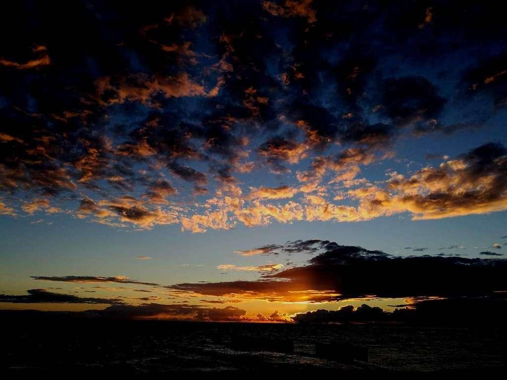 zatoka Pucka przepięknie zachodzące słońce Ritu Podsiadły