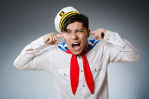 36682991 - funny captain sailor wearing hat