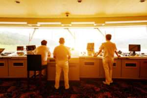 60751204 - large cruise ship cabins and sailor
